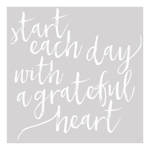 """""""Grateful Heart"""" Canvas Wall Art"""