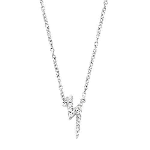 Boston Bay Diamonds 14k White Gold Diamond Accent Lightning Bolt Pendant Necklace