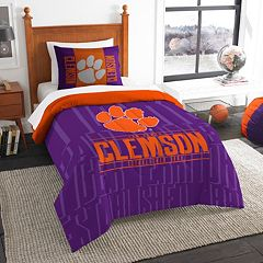 Clemson Tigers Modern Take Twin Comforter Set by Northwest