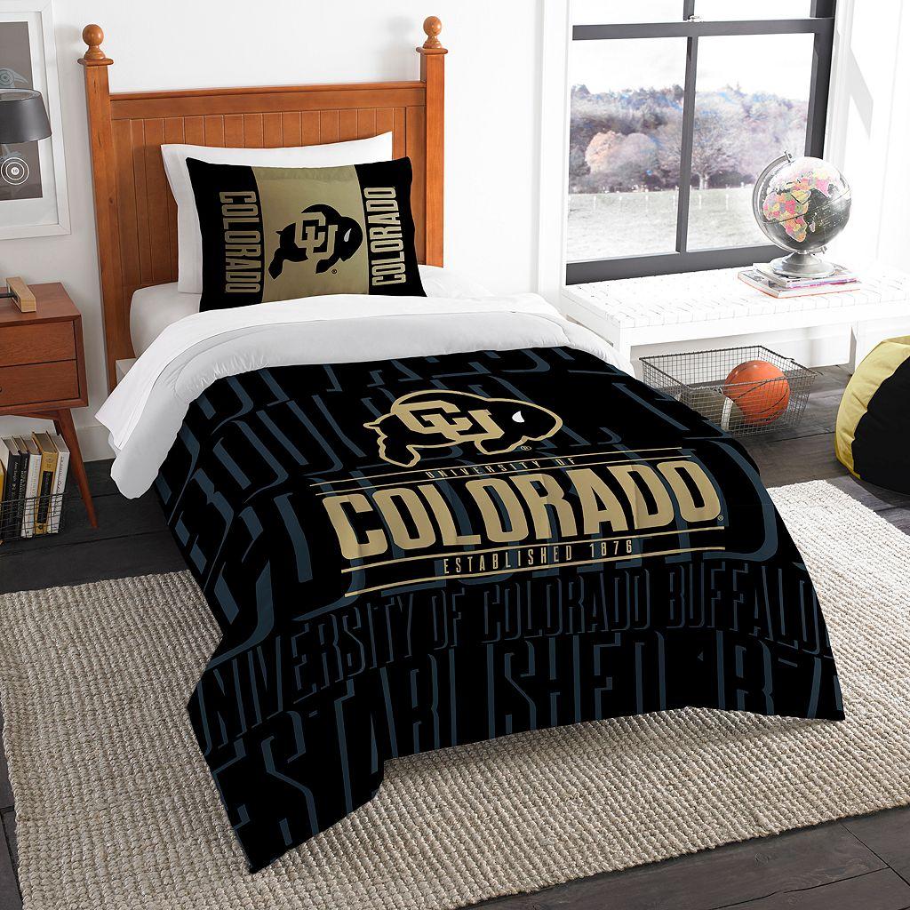 Colorado Buffaloes Modern Take Twin Comforter Set by Northwest