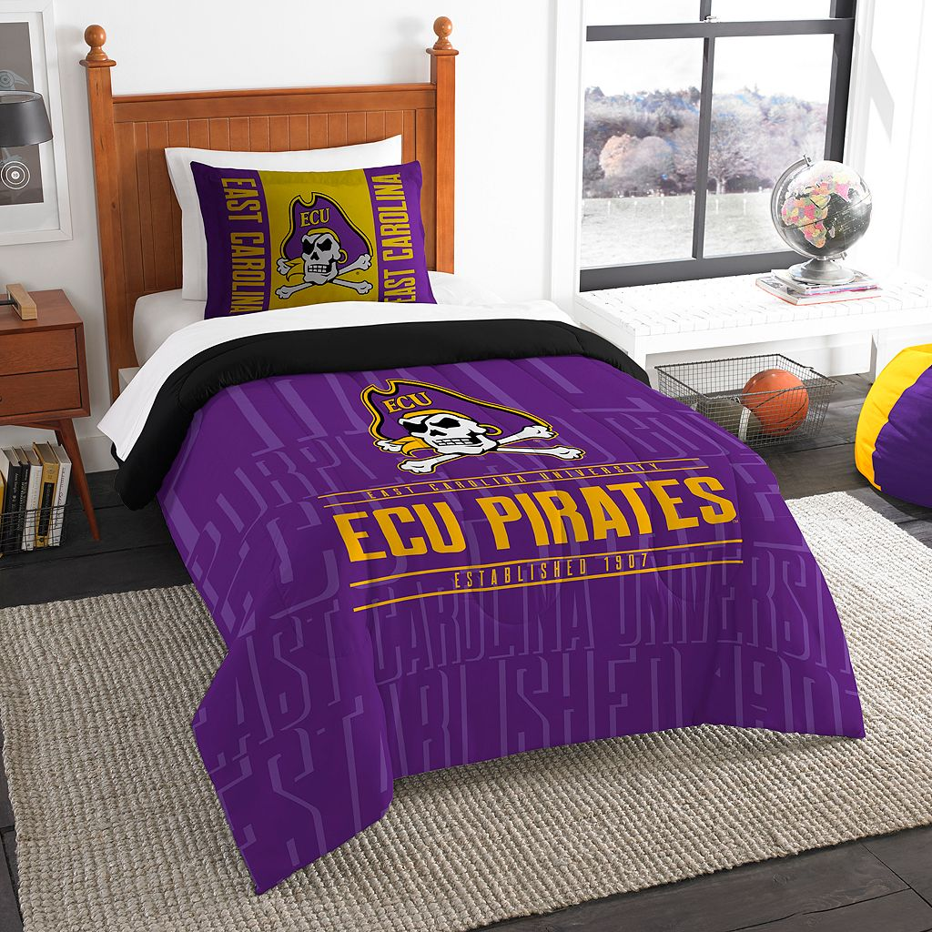 East Carolina Pirates Modern Take Twin Comforter Set by Northwest