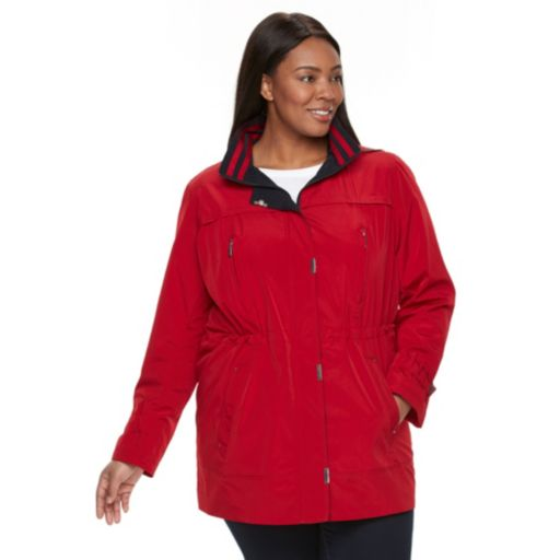 Plus Size Gallery Hooded Anorak Rain Jacket