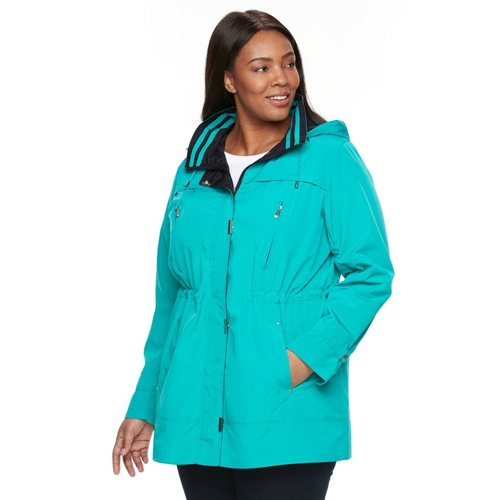 Plus Size Gallery Hooded Anorak Rain Jacket