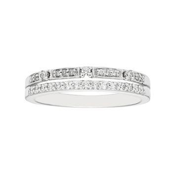 Boston Bay Diamonds 14k White Gold 1/4 Carat T.W. Diamond Stack Ring