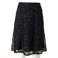 Women's Studio 253 Flocked Lace Skirt