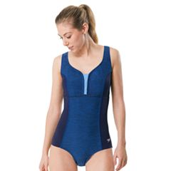 Women's Speedo Space-Dye One-Piece  Swimsuit