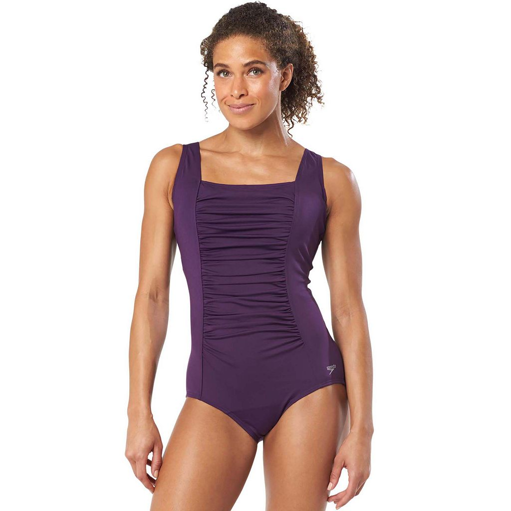Women's Speedo Ruched One-Piece Swimsuit