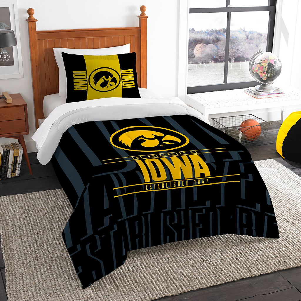 Iowa Hawkeyes Modern Take Twin Comforter Set by Northwest