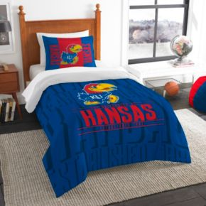 Kansas Jayhawks Modern Take Twin Comforter Set by Northwest