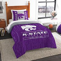 Kansas State Wildcats Modern Take Twin Comforter Set by Northwest