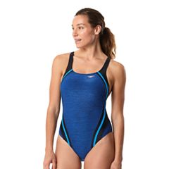 Women's Speedo Quantum Splice Heathered One-Piece Swimsuit