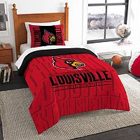 Louisville Cardinals Modern Take Twin Comforter Set by Northwest