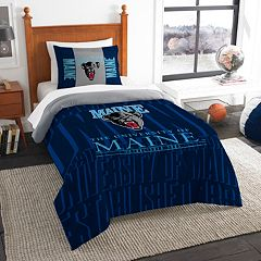 Maine Black Bears Modern Take Twin Comforter Set by Northwest