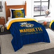 Marquette Golden Eagles Modern Take Twin Comforter Set by Northwest