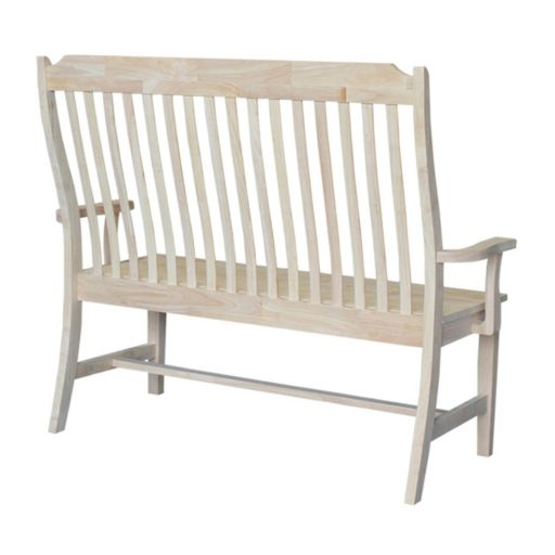 International Concepts Mission Style Wood Bench