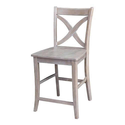 International Concepts Cosmo Crossback Wood Counter Stool