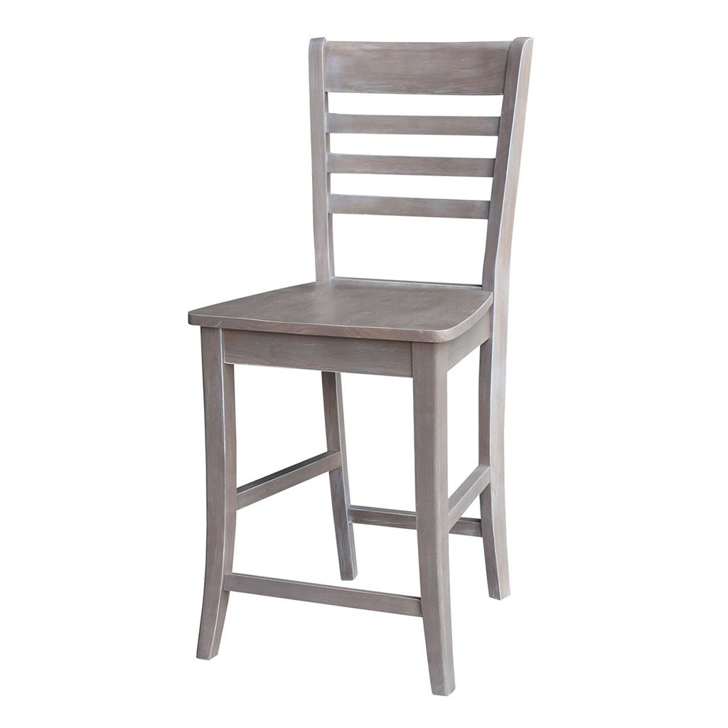 International Concepts Cosmo Ladderback Wood Counter Stool