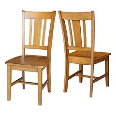 International Concepts San Remo Slat Back Dining Chair 2-piece Set
