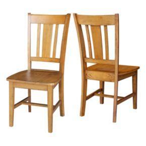 International Concepts San Remo Slat Back Dining Chair 2-piece Set