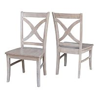 International Concepts Cosmo Washed Wood Dining Chair 2 pc Set