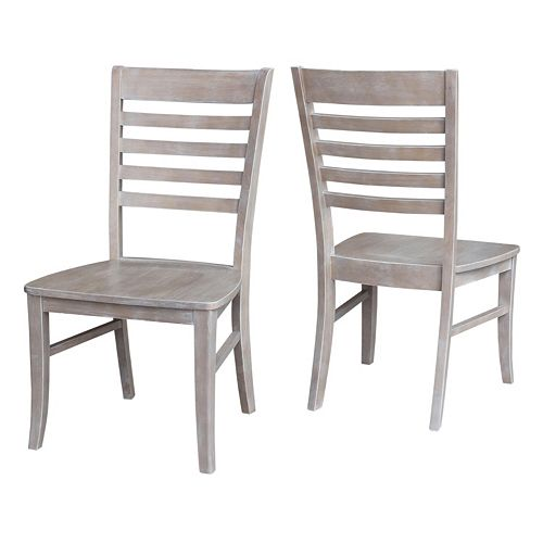 International Concepts Cosmo Ladderback Dining Chair 2-piece Set
