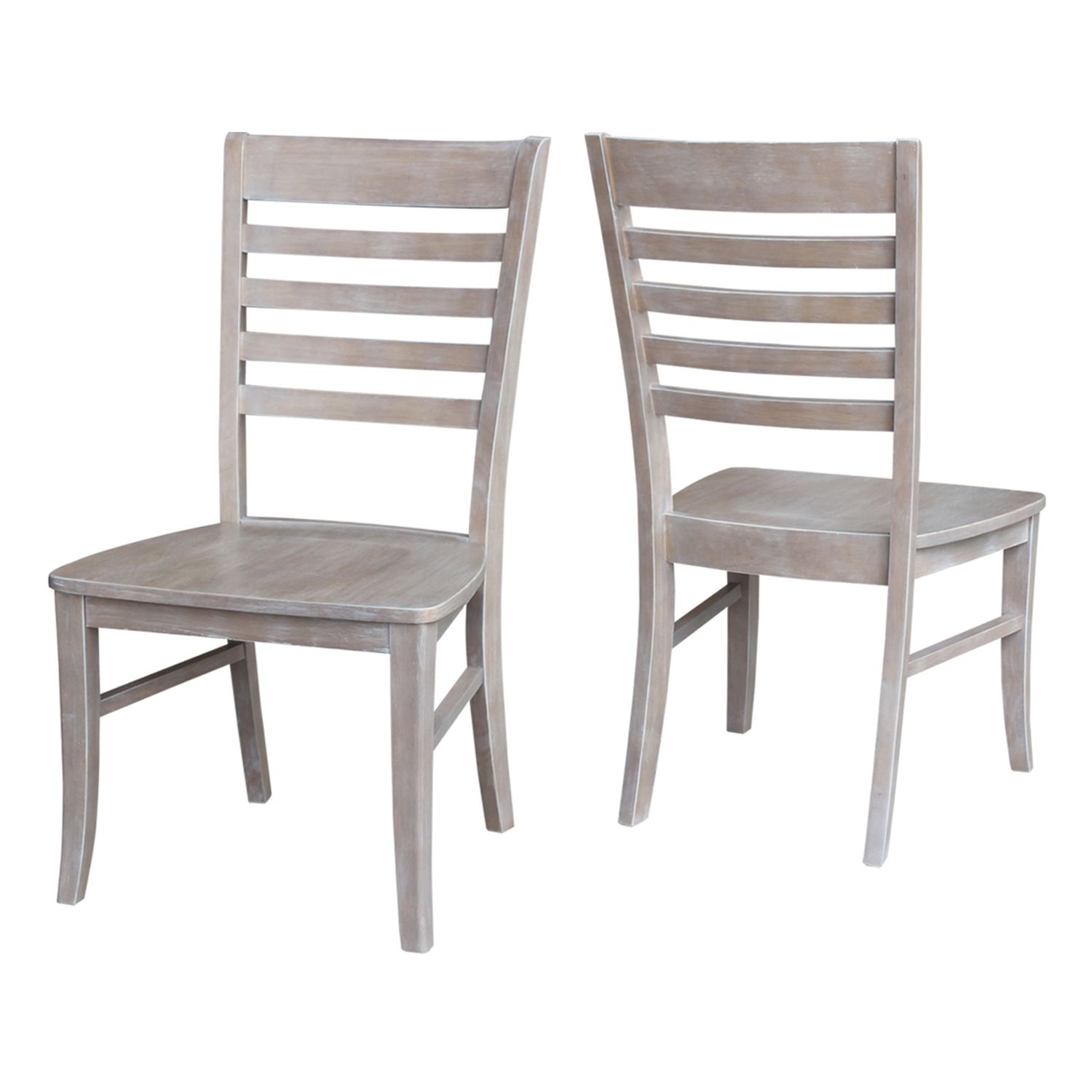 International Concepts Cosmo Ladderback Dining Chair 2 Piece Set