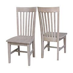 International Concepts Cosmo Slat Back Dining Chair 2-piece Set