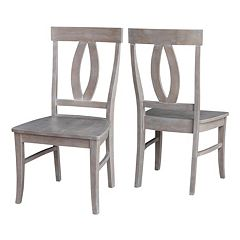 International Concepts Cosmo Washed Wood Dining Chair 2-piece Set