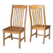 International Concepts Steambent Slat Back Dining Chair 2-piece Set