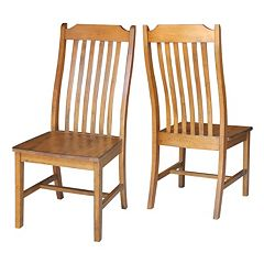 International Concepts Steambent Slat Back Dining Chair 2-piece Set