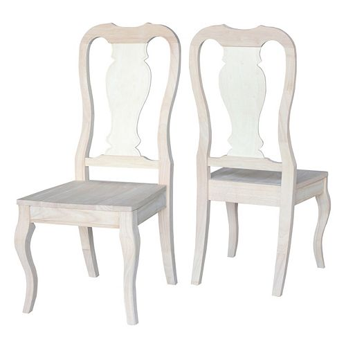 International Concepts Queen Dining Chair 2-piece Set
