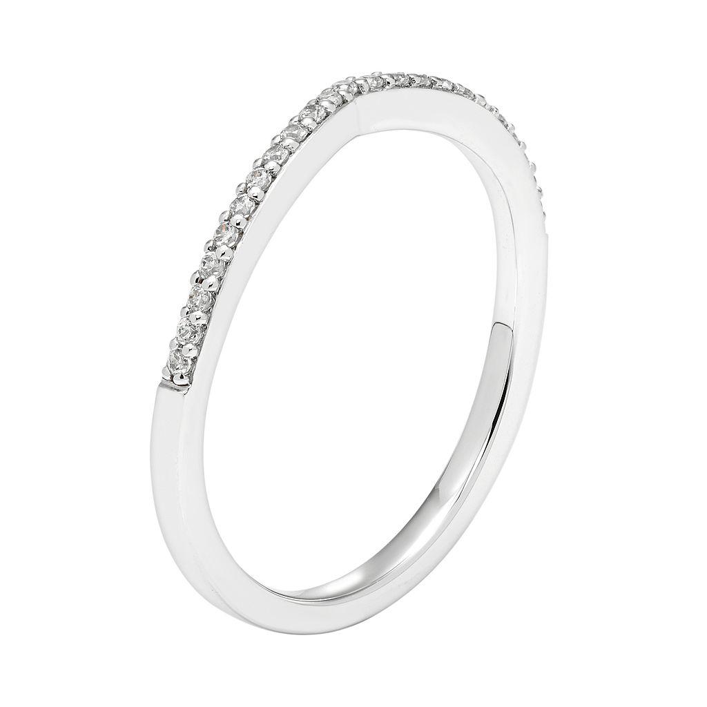 Boston Bay Diamonds 14k White Gold 1/10 Carat T.W. Diamond Shadow Wedding Ring