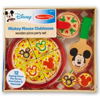 Mickey Mouse Clubhouse Wooden Pizza Party Set by Melissa & Doug