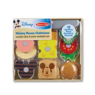 Mickey Mouse Clubhouse Wooden Slice & Snack Sandwich Set by Melissa & Doug