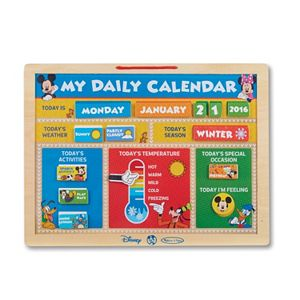 Melissa /& Doug Disney Mickey Mouse Clubhouse Calendar and Chalkboard Magnetic Activity Set Melissa and Doug 7782