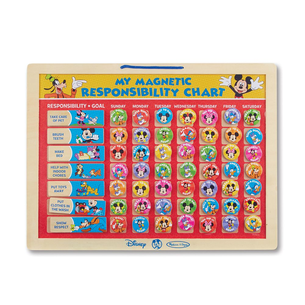 Mickey Mouse Clubhouse My Magnetic Responsibility Chart By Melissa Doug