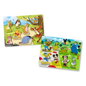 Disney's Winnie the Pooh & Mickey Mouse Chunky Puzzle Bundle by Melissa & Doug