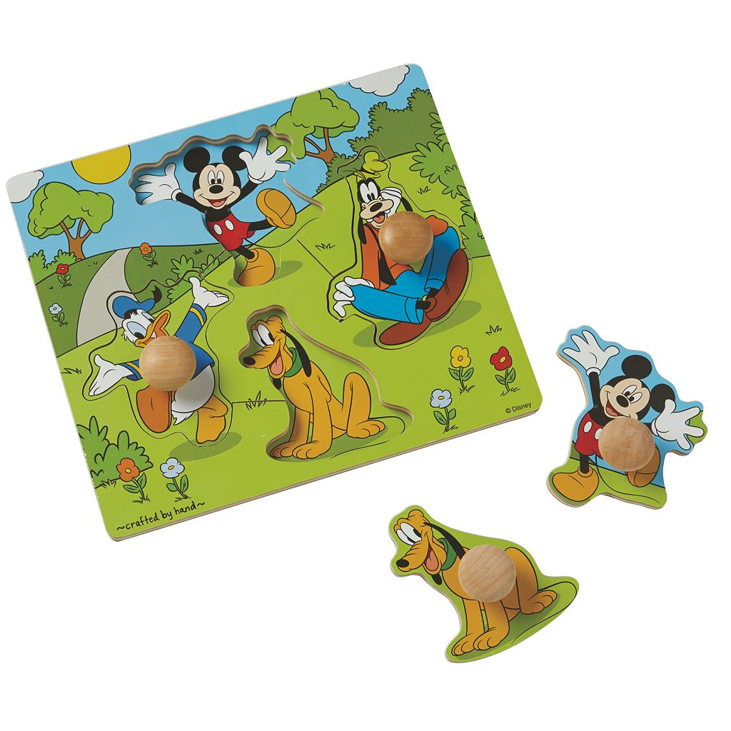 Disney's Winnie the Pooh & Mickey Mouse Jumbo Knob Puzzle Bundle by Melissa & Doug