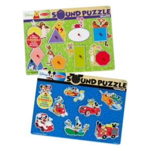 Disney's Winnie the Pooh & Mickey Mouse Sound Puzzle Bundle by Melissa & Doug