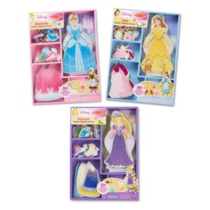 Disney's Cinderella, Belle & Rapunzel Magnetic Dress Up Bundle by Melissa & Doug