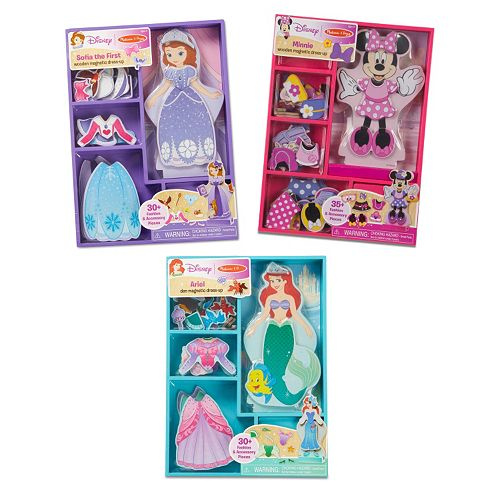 Disney's Minnie Mouse, Sofia & Ariel Magnetic Dress Up Bundle by Melissa & Doug