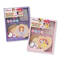 Disney Princess Decorate-Your-Own Wooden Heart Box & Sofia the First Flower Box Bundle by Melissa & Doug