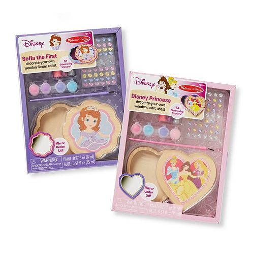 2 Pack Melissa /& Doug Design-Your-Own Wooden Heart Chest Craft Kit