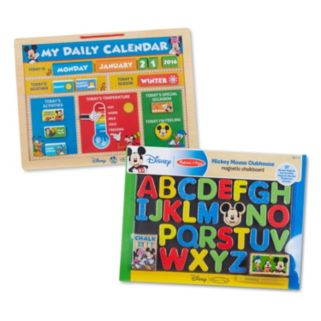 Disney's Mickey Mouse Clubhouse Magnetic Calendar & Chalkboard Activity Bundle by Melissa & Doug