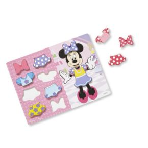 Disney's Minnie Mouse & Sofia the First Dress-Up Chunky Puzzle Bundle by Melissa & Doug