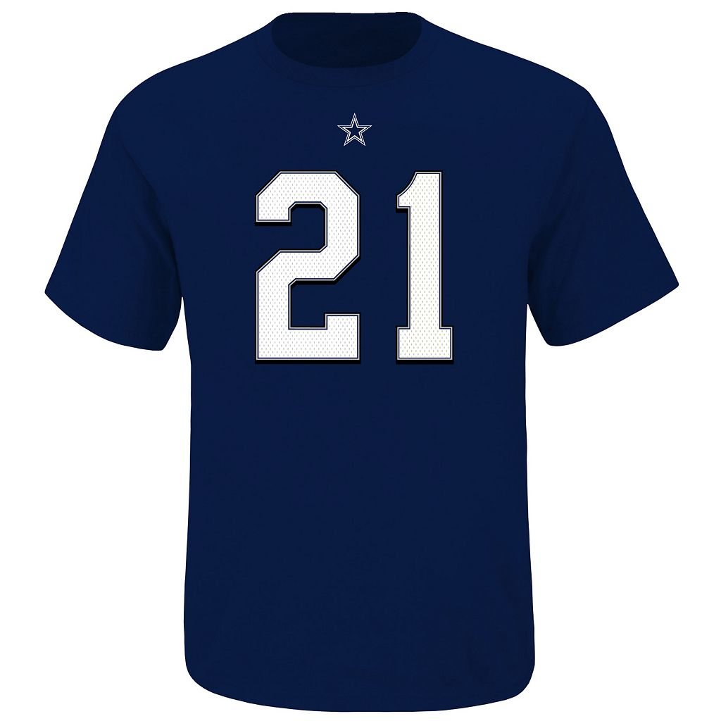 Big & Tall Dallas Cowboys Ezekiel Elliott Player Name and Number Tee