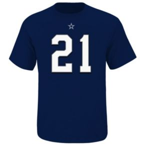 Big & Tall Dallas Cowboys Ezekiel Elliott Player Name and Number Tee