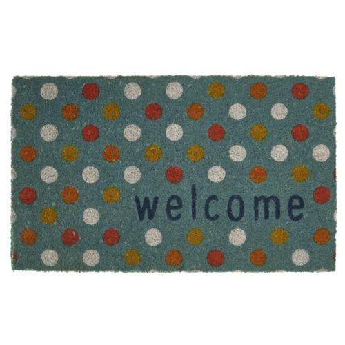 Mohawk® Home ''Welcome'' Dots Coir Doormat - 18'' x 30''