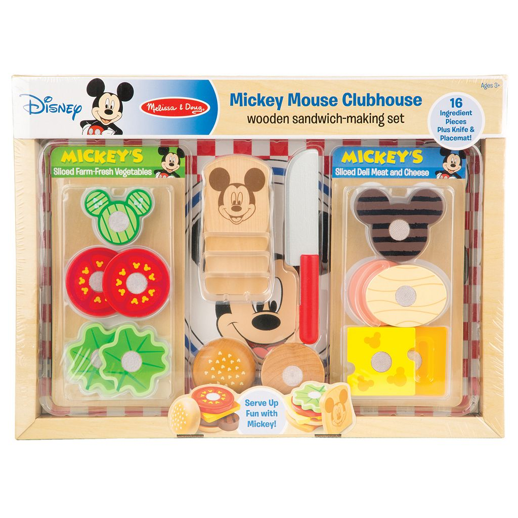 Mickey Mouse Clubhouse Wooden Sandwich Making Kit by Melissa & Doug