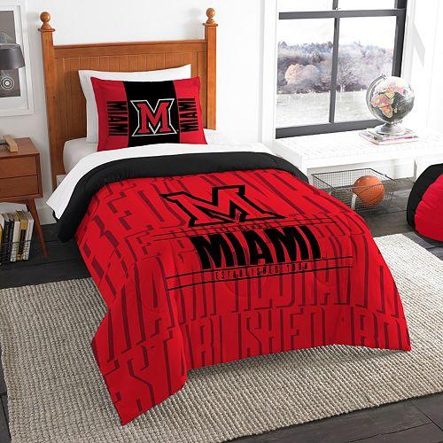 Miami RedHawks Modern Take Twin Comforter Set by Northwest